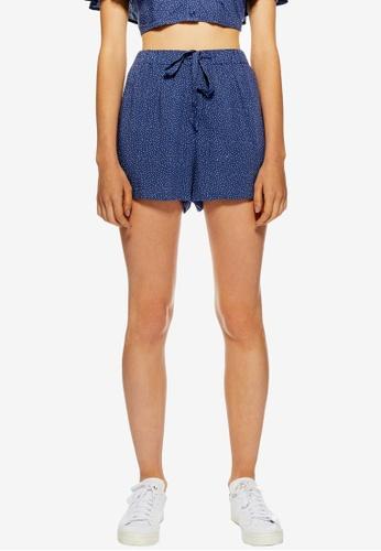TOPSHOP blue Spot Shorts 3D589AA8020528GS_1