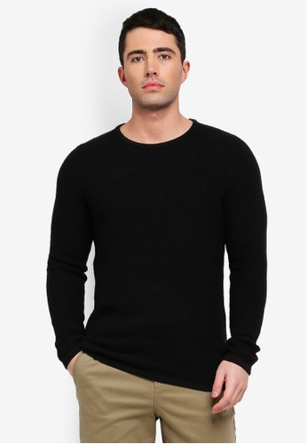 Selected Homme black Clive Knitted Pullover 4BE97AA999F989GS_1