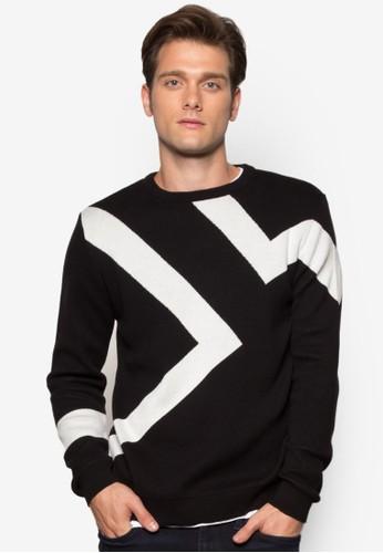 閃電印花長袖衫、 服飾、 外套RiverIsland閃電印花長袖衫最新折價