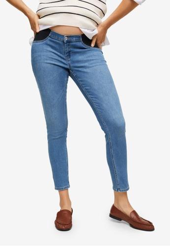Mango blue Maternity Mid-Rise Jeans 16667AA22E345BGS_1