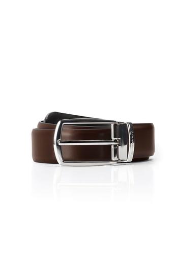 Maverick & Co. brown Maverick & Co. Sirius Calf Leather Belt(Cocoa Brown) 16971ACA2C3C50GS_1