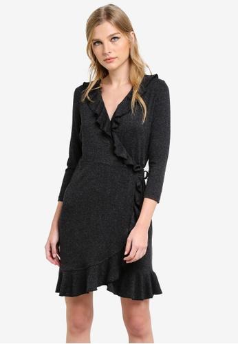 Vero Moda grey Henna Short Wrap Dress VE975AA0SA72MY_1