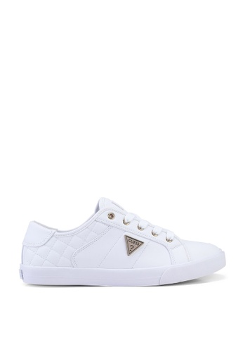 GUESS white Comly Sneakers 659B9SHA5002F7GS_1