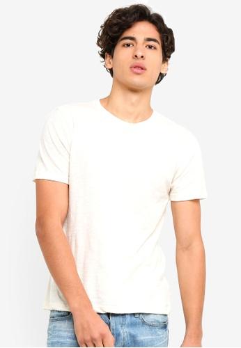 UniqTee 白色 修身Crew T恤 5DE72AADE701AAGS_1