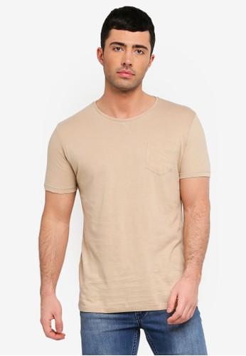 Brave Soul brown Arkham T-Shirt 368B0AA4F83164GS_1