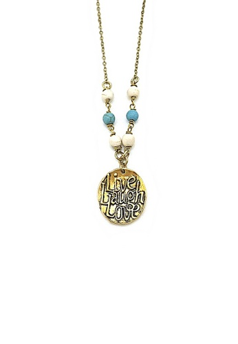 Trinkets for Keeps gold Live, Laugh and Love Necklace TR047AC57MDEPH_1