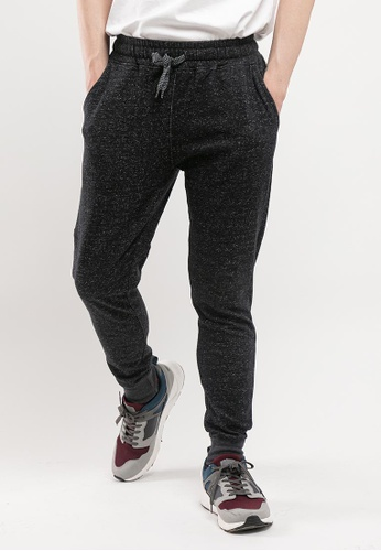 FOREST black Forest Casual Jogger Pants - 610114-25BlackMelange 2B478AA63460CFGS_1