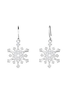 耳環 Snowflake Zirconia 925 銀