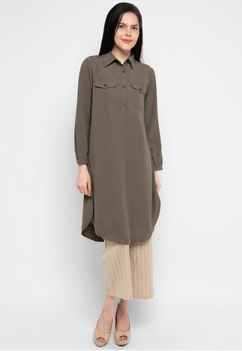 Urban Exchange brown Blouse Ayra Brown 7C0A2AAD06F9CBGS_1