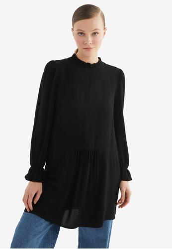 Trendyol 黑色 休閒Tunic上衣 5BA4CAA6B25135GS_1