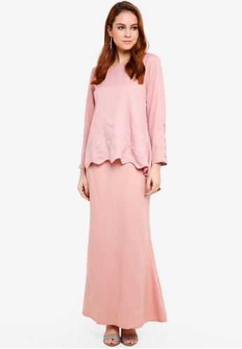 BYN pink Baju Kurung Modern 0DB43AA28AC72CGS_1