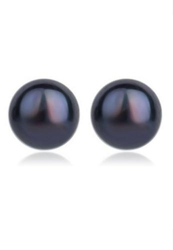 Vivere Rosse black Basic Pearl Stud Earrings VI014AC69RIOMY_1