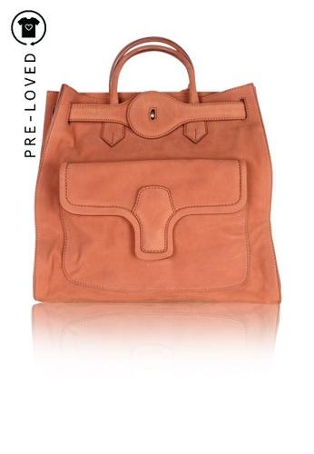 BALENCIAGA brown Pre-Loved balenciaga Pleine Fleur Aniline Bag 3DA6CACA2F9C8AGS_1