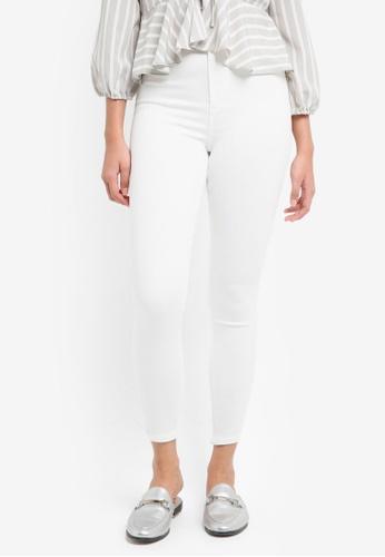 TOPSHOP white Moto White Joni Jeans 7E96EAA71C44D2GS_1