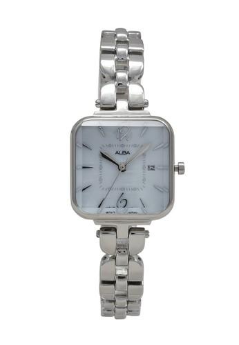 Alba silver ALBA Jam Tangan Wanita - Silver White - Leather Strap - AH7R69 5C8D6AC0BA284AGS_1