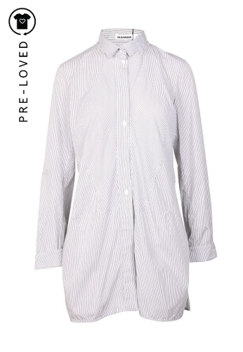Jil Sander black Pre-Loved jil sander Black And White Stripes Long Shirt AECF9AA4567ADBGS_1