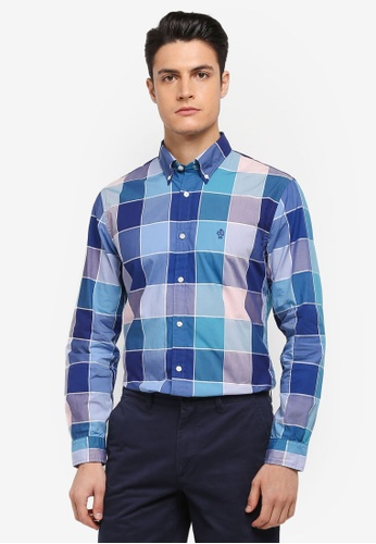 Buy brooks brothers red fleece yarn dyes patchwork shirt for Brooks brothers tall shirts