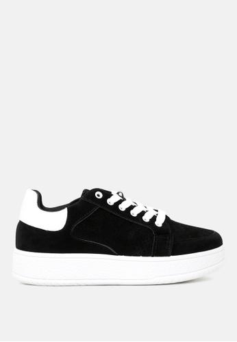 London Rag 黑色 厚底系带运动鞋 33710SH7CC3F69GS_1