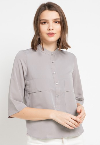 EPRISE grey Maggie Blouse 92067AA09DD5C6GS_1