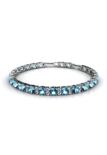 Her Jewellery blue Joyous Bracelet (Blue)  - Made with premium grade crystals from Austria 95945ACA50690EGS_1