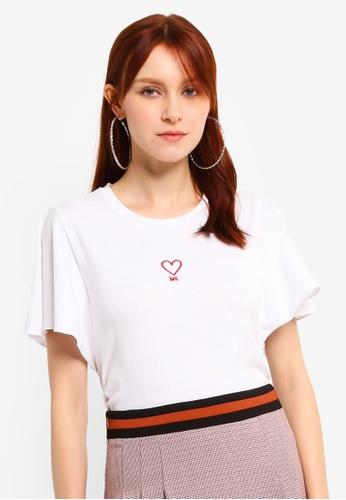 Hopeshow white Round Neck T-Shirt 401B9AA75E3715GS_1
