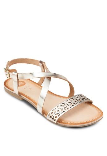 Villenesprit part timeeuve 雕花羅馬涼鞋, 女鞋, 鞋