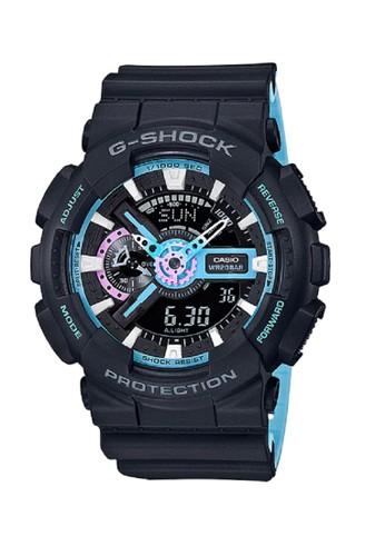 G-Shock black and blue G-shock Men GA-110PC-1ADR Black Blue F442BAC95E6EE1GS_1