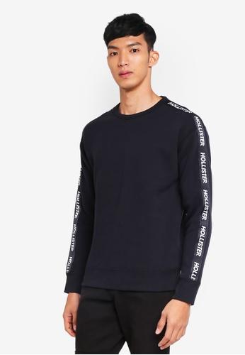 Hollister black Brand Graphic Sweatshirt 0361FAAE63C30AGS_1