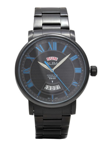 Alba black ALBA Jam Tangan Pria - Black - Stainless Steel - AV3171 A58D2ACB8F235AGS_1