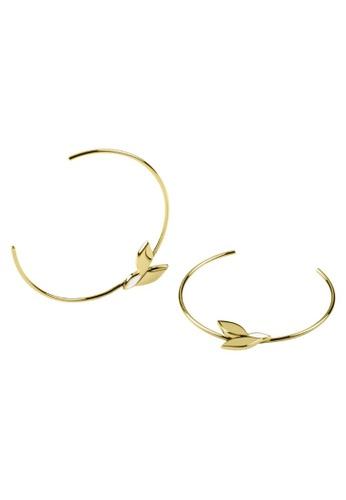 Sara Miller gold Sara Miller - Falling Leaf Drop Earrings - Gold (SAJ1034) 7A9F0AC80DFED3GS_1