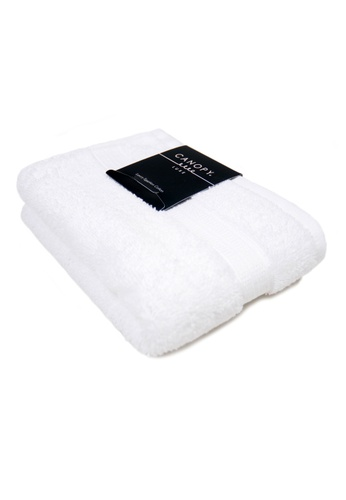 Canopy white Canopy Luxe Egyptian Cotton Hand Towel Luxurious,Ultra Soft, 640gsm Thick Quality (Design: Premium)(45x65cm) 3DFDDHL526E427GS_1