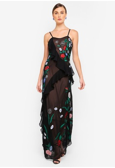 Frock and Frill black Charlize Cami Strap Maxi Dress D79C9AA648484FGS 1 0c74c914c4
