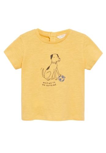 MANGO BABY yellow Printed Cotton-Blend T-Shirt 223D2KAFA34774GS_1