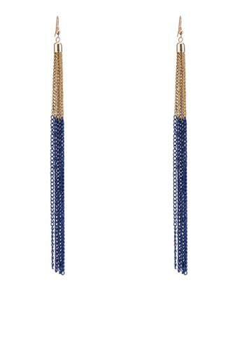 色塊鍊esprit 品牌飾流蘇吊墜耳環, 飾品配件, 其他