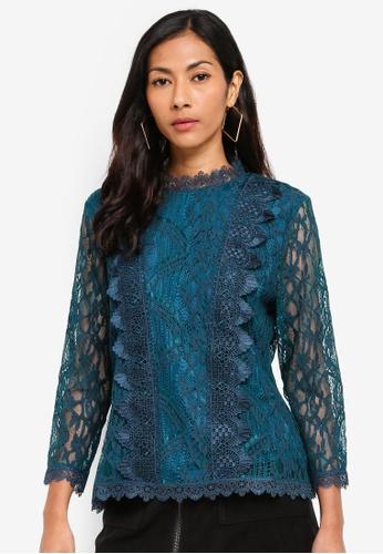 ESPRIT blue Woven Long Sleeve Blouse 7DBDEAA3EE93E0GS_1
