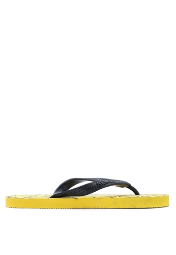 BENCH yellow Printed Rubber Slippers BE550SH16LTFPH_1