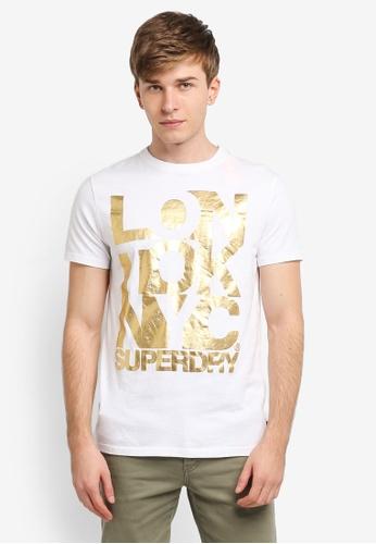 Superdry white LTN Tee SU137AA0SI22MY_1