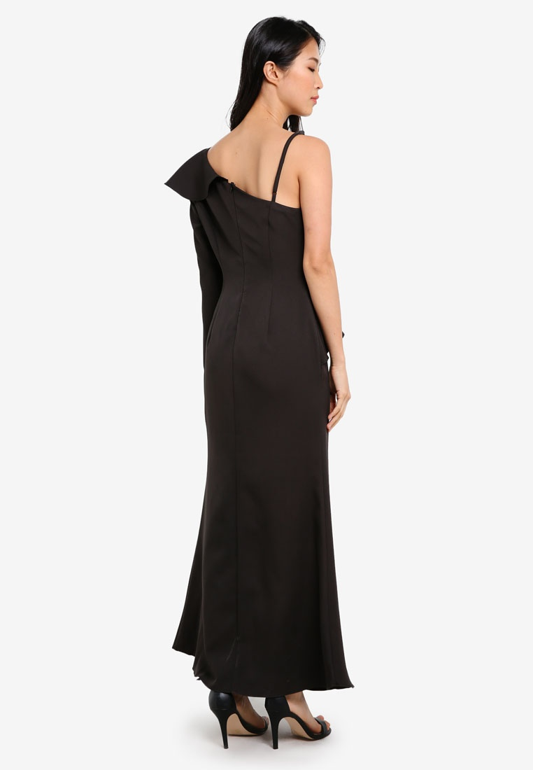 amp; Asymetrical Black Maxi Preen Dress Mermaid Proper wOwxPInH0q