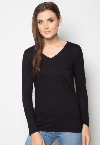 Shop BENCH Long Sleeve Slub Online on ZALORA Philippines 92fdb820e