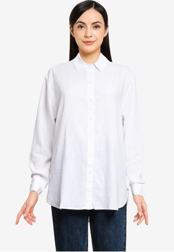 Abercrombie & Fitch white Resort Shirt F0B61AA0044452GS_1