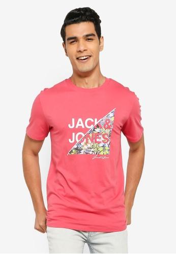 Jack & Jones pink Kim Crew Neck Tee DF1A9AA6C88CD6GS_1