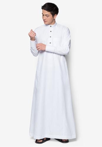 Amar Amran white Jubah A Slim Fit 9D3BDAA7A9E39BGS_1
