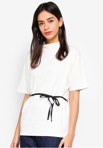 ESPRIT white Short Sleeve T-Shirt 9E143AAF0B910AGS_1