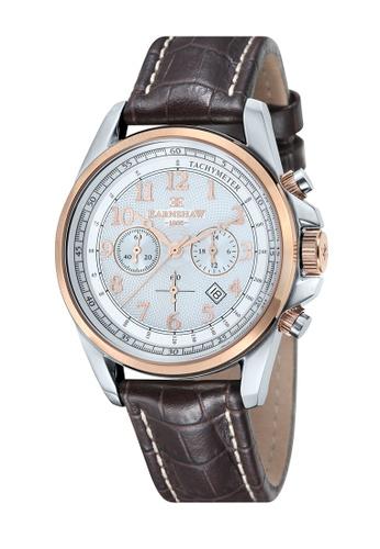 Thomas Earnshaw brown Thomas Earnshaw COMMODORE ES-8028-09 Men's Brown Genuine Leather Strap Watch 212FFACD0D7377GS_1