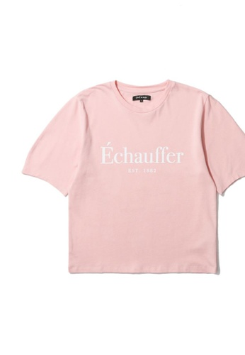 tout à coup pink French print tee D089CAABEAE7EDGS_1
