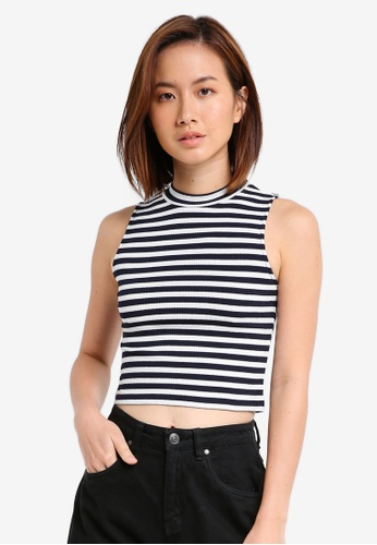 ZALORA multi and navy Essential Mock Neck Tank 9783CAA7F3F40FGS_1
