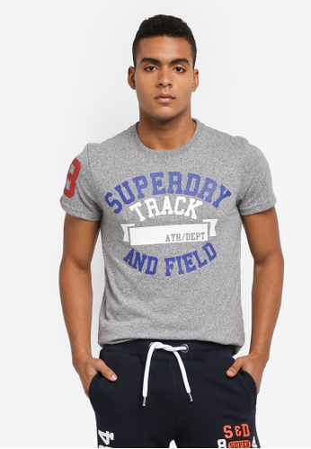Superdry grey TRACKSTER TEE A835EAA9D48B9EGS_1