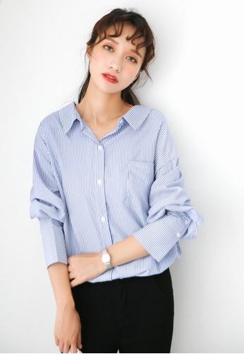 Shopsfashion 藍色 Ring Backed Shirt SH088AA0RWZJMY_1