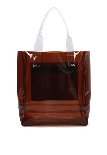 Milliot & Co. 褐色 Georgina Tote Bag 3BC58ACE7D89FDGS_1