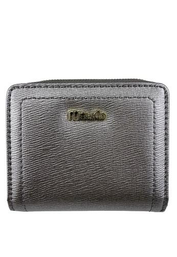 Mel&Co grey Faux Leather Mid-Size Wallet 50A04AC05E3427GS_1